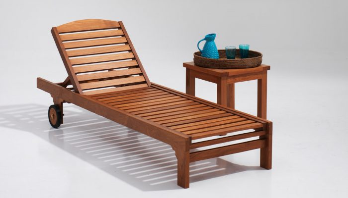 wooden sun loungers