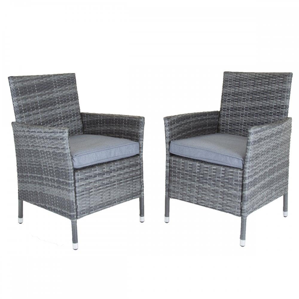 set of 2 rattan garden chairs