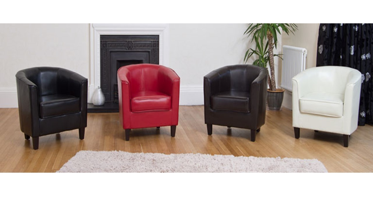 faux leather tub chairs